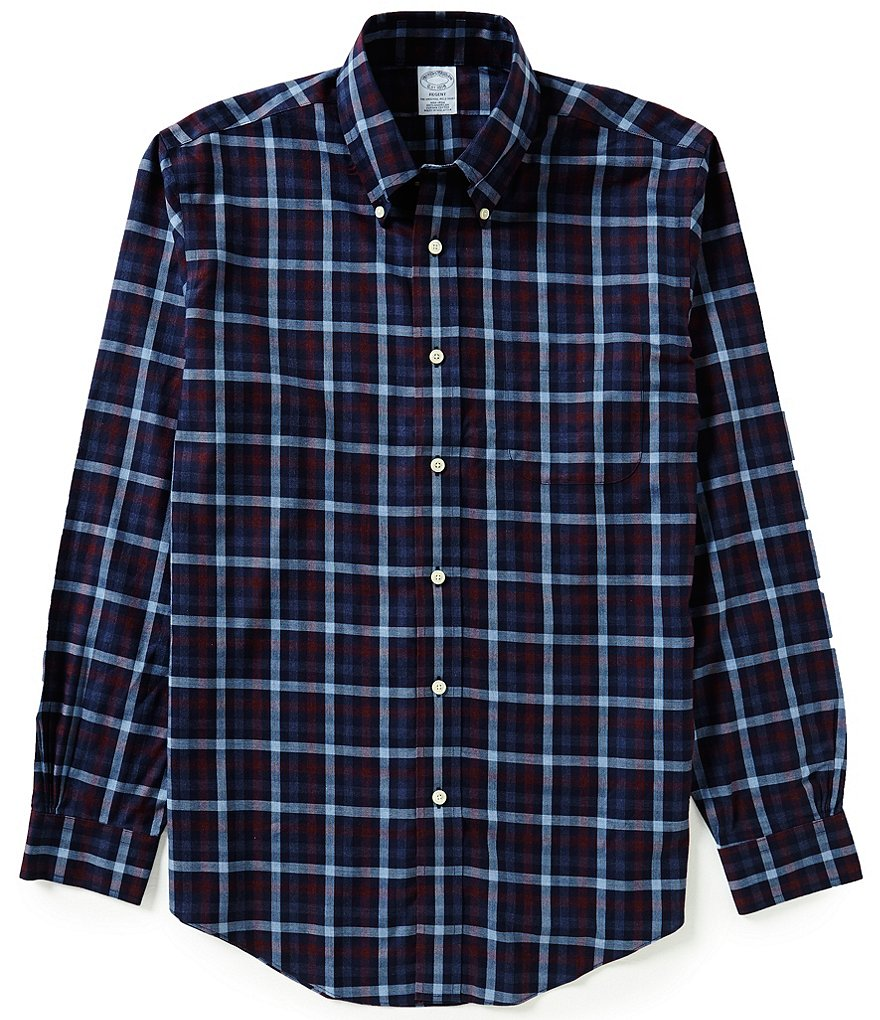 Brooks Brothers Non-Iron Regent Fit Twill Plaid Woven Shirt