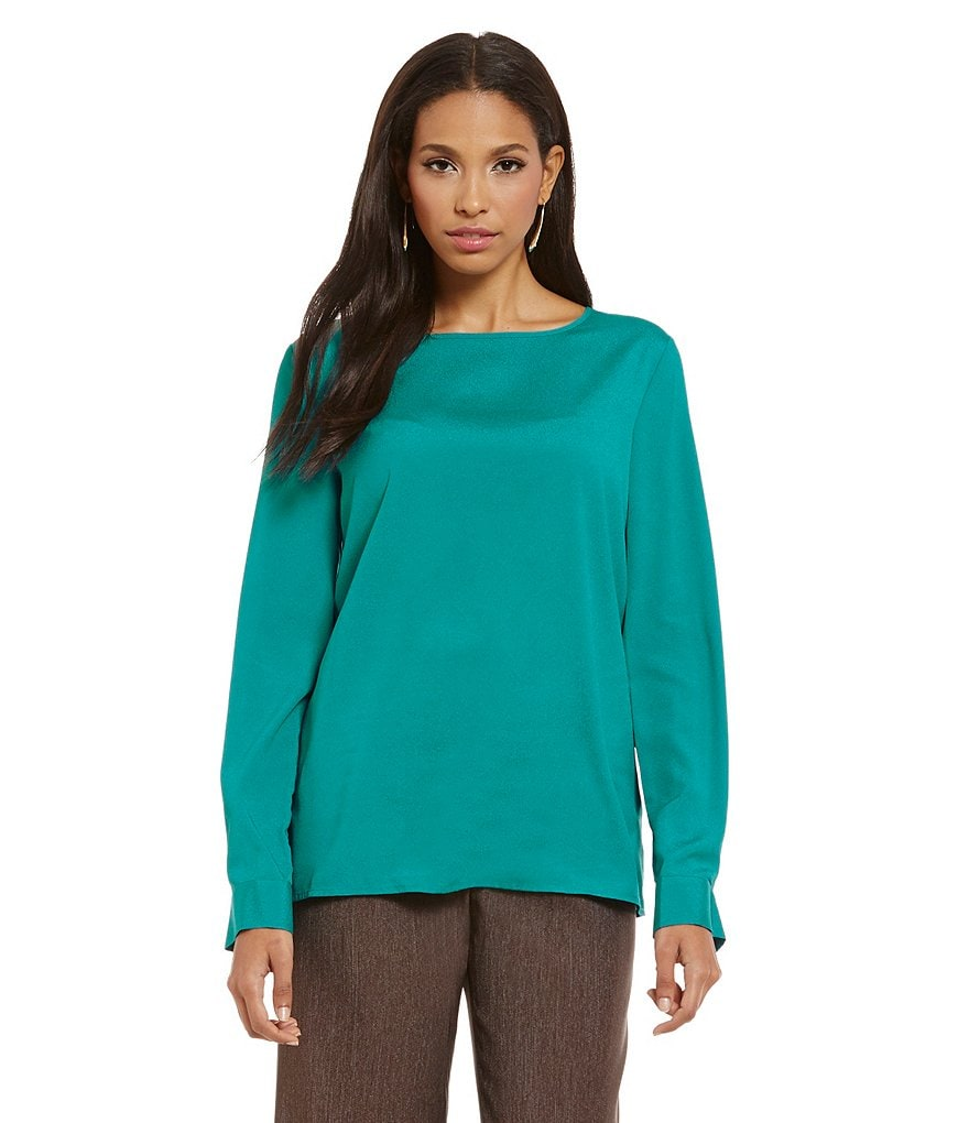 Preston & York Dana Long Sleeve Crepe Blouse