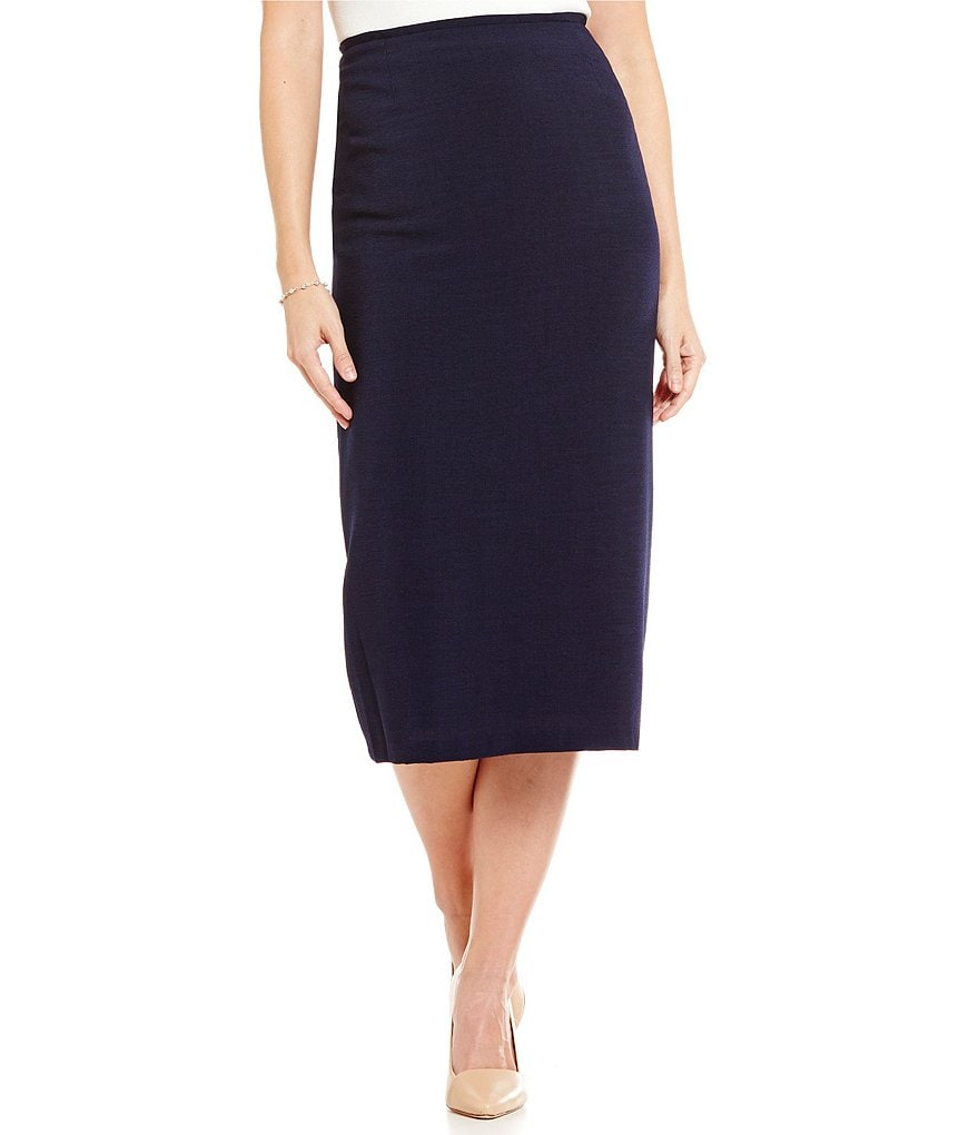 Preston & York Taylor Textured Novelty Suiting Pencil Skirt