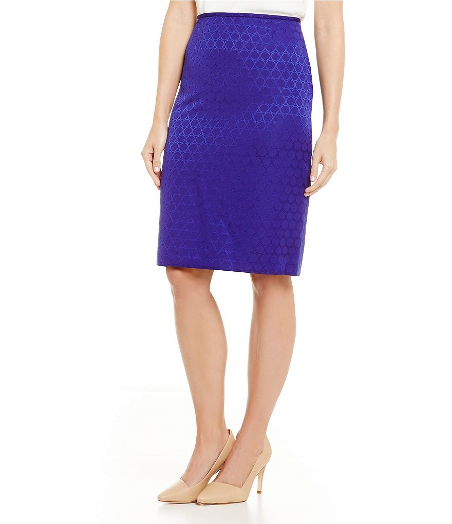 Preston & York Kelly Jacquard Suiting Pencil Skirt