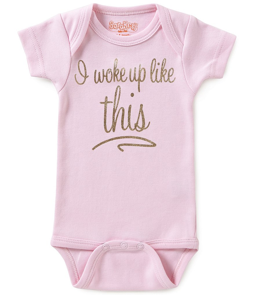 Sara Kety Baby Girls Newborn-18 Months Flawless Short-Sleeve Bodysuit