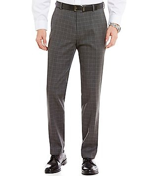 Brooks Brothers Non-Iron Milano Fit Flat-Front Windowpane Advantage Chino Pants