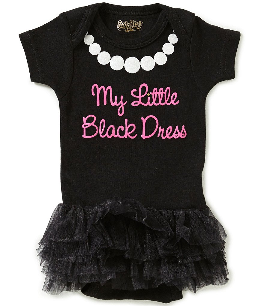 Sara Kety Baby Girls 3-6 Months My Little Black Dress Tutu-Skirted Bodysuit
