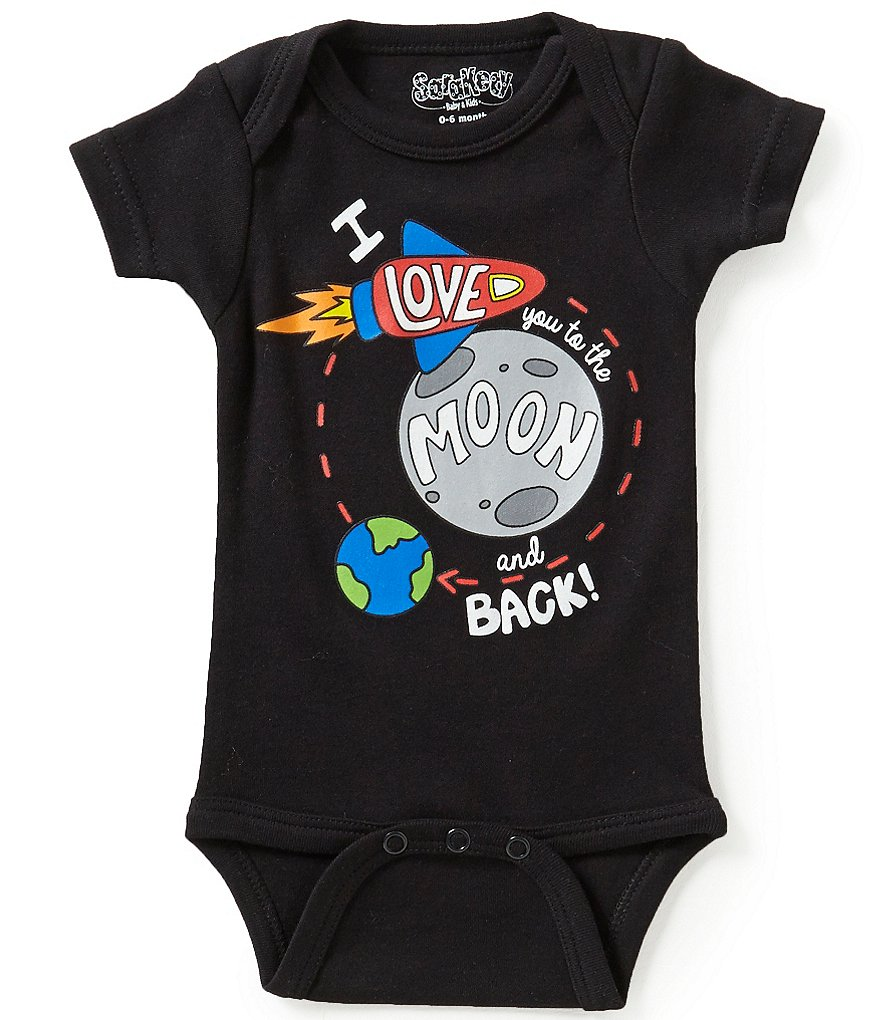 Sara Kety Newborn-18 Months Moon And Back Short-Sleeve Bodysuit