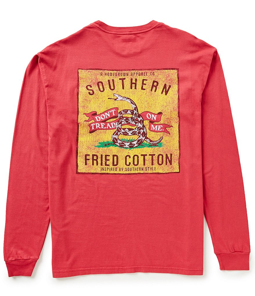 Southern Fried Cotton Men's Don´t Tread Patch Long-Sleeve Graphic Tee