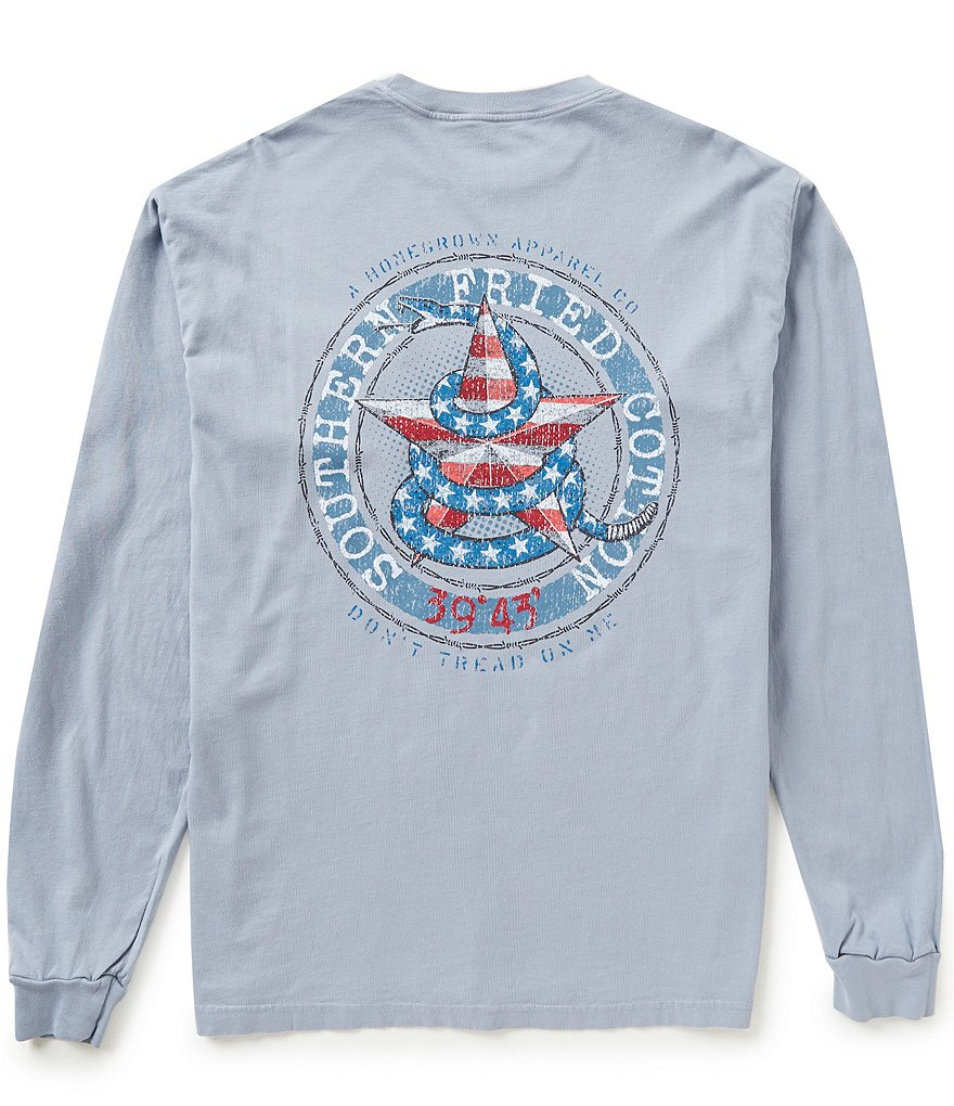 Southern Fried Cotton Men's Don´t Tread Star Graphic Long-Sleeve Tee
