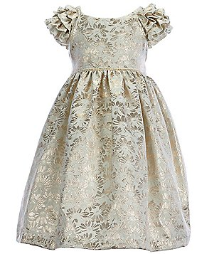 Laura Ashley London Little Girls 2T-6X Ruffled-Metallic Dress
