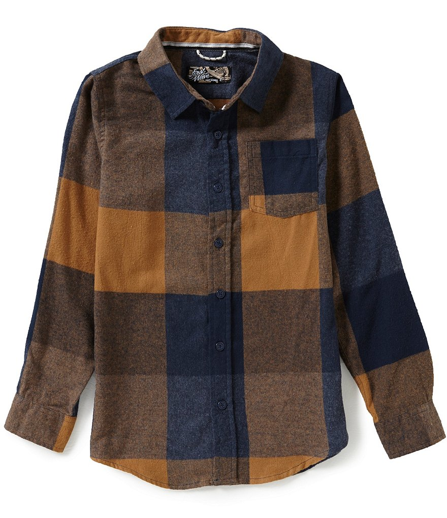First Wave Big Boys 8-20 Buffalo Check Sportshirt