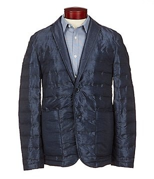 Michael Kors Heat Sealed Notch Lapel Channel Quilt Blazer