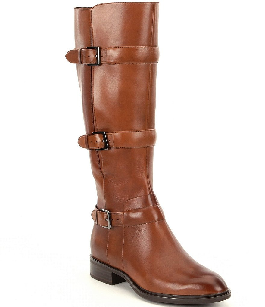 ECCO Chelsea 20 Buckle Strap Leather Tall Riding Boots
