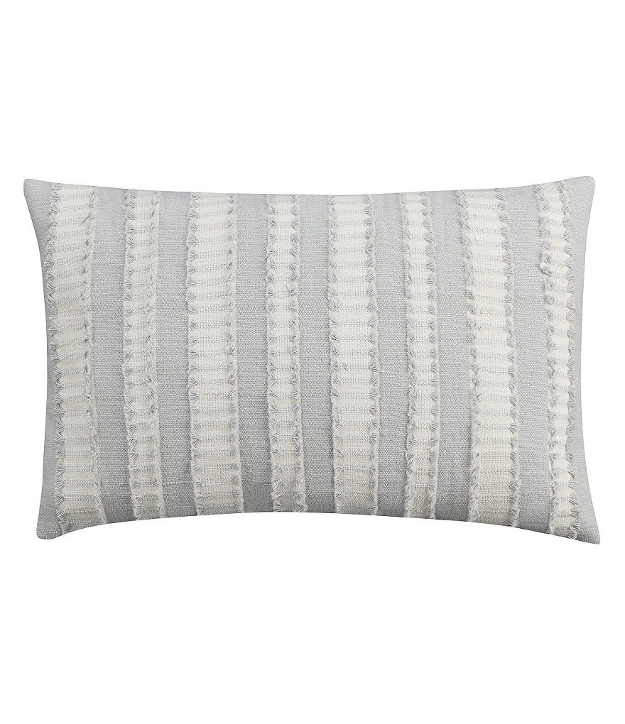 Cupcakes & Cashmere Moroccan Geo Frayed Striped Breakfast Pillow