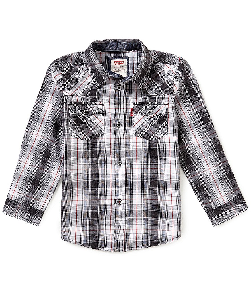 Levi´s® Little Boys 2T-7 Barstow Plaid Western Shirt