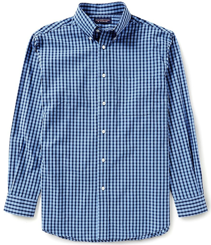 Roundtree & Yorke Long-Sleeve Check Sportshirt