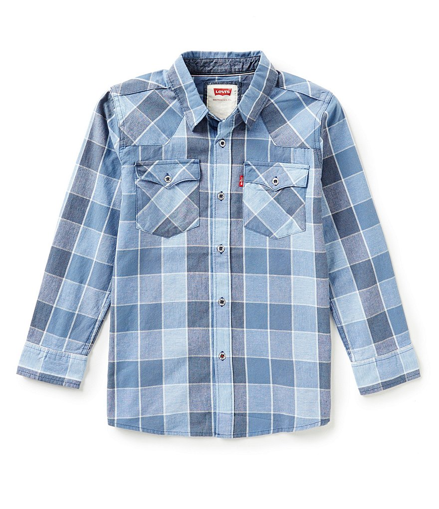 Levi´s® Big Boys 8-20 Barstow Plaid Western Shirt