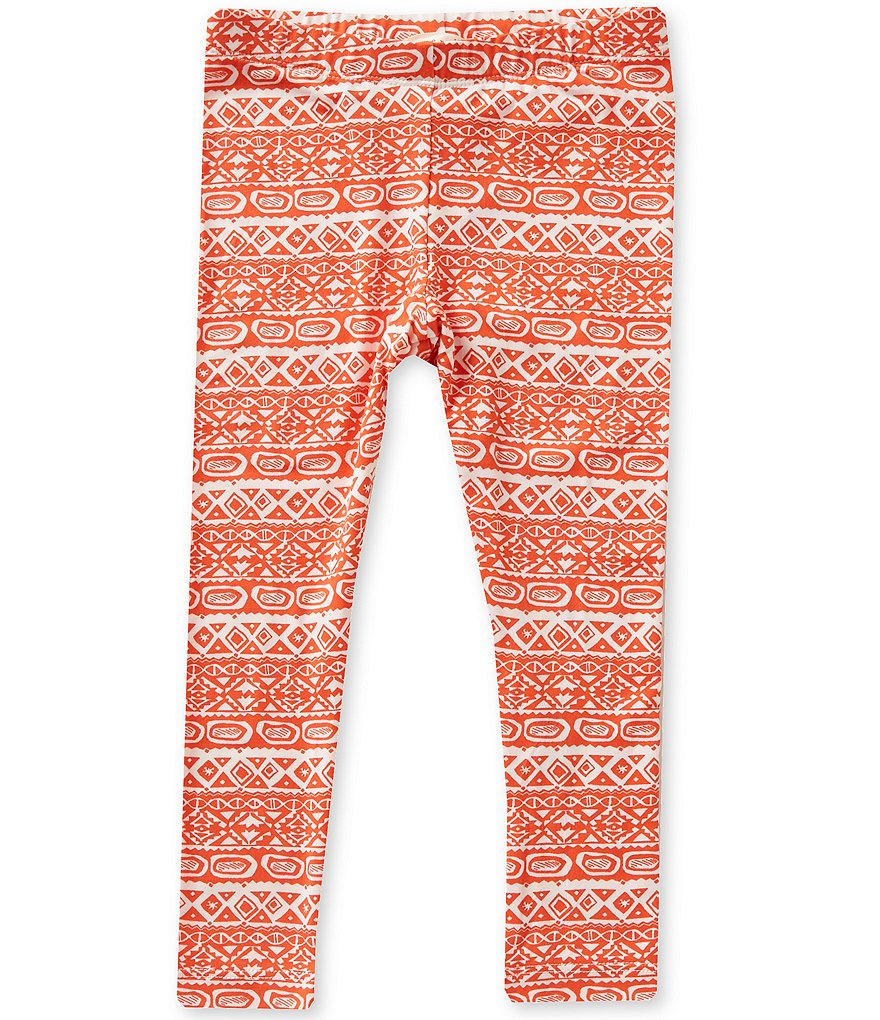Copper Key Little Girls 4-6X Batik-Print Knit Leggings