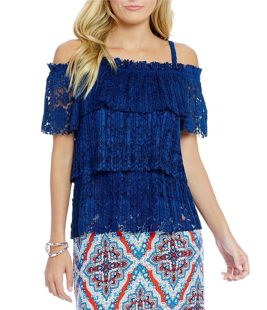 ECI Lace Off the Shoulder Top