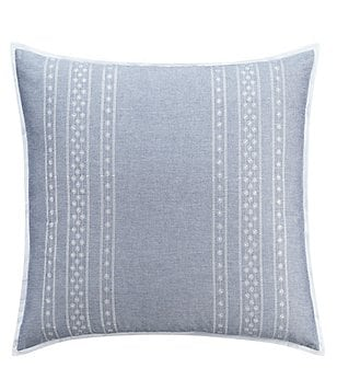 Cupcakes & Cashmere Chambray Dot Embroidered Euro Sham