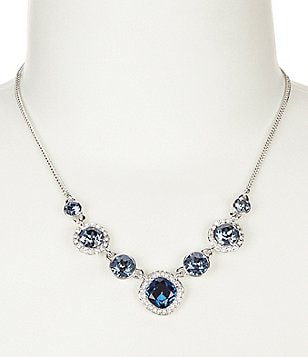 Givenchy Blue Stone Frontal Necklace