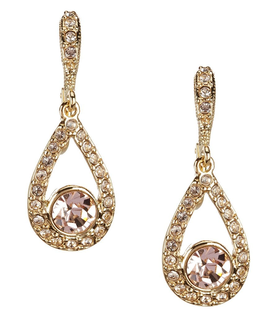 Givenchy Silk Open Pear Drop Earrings
