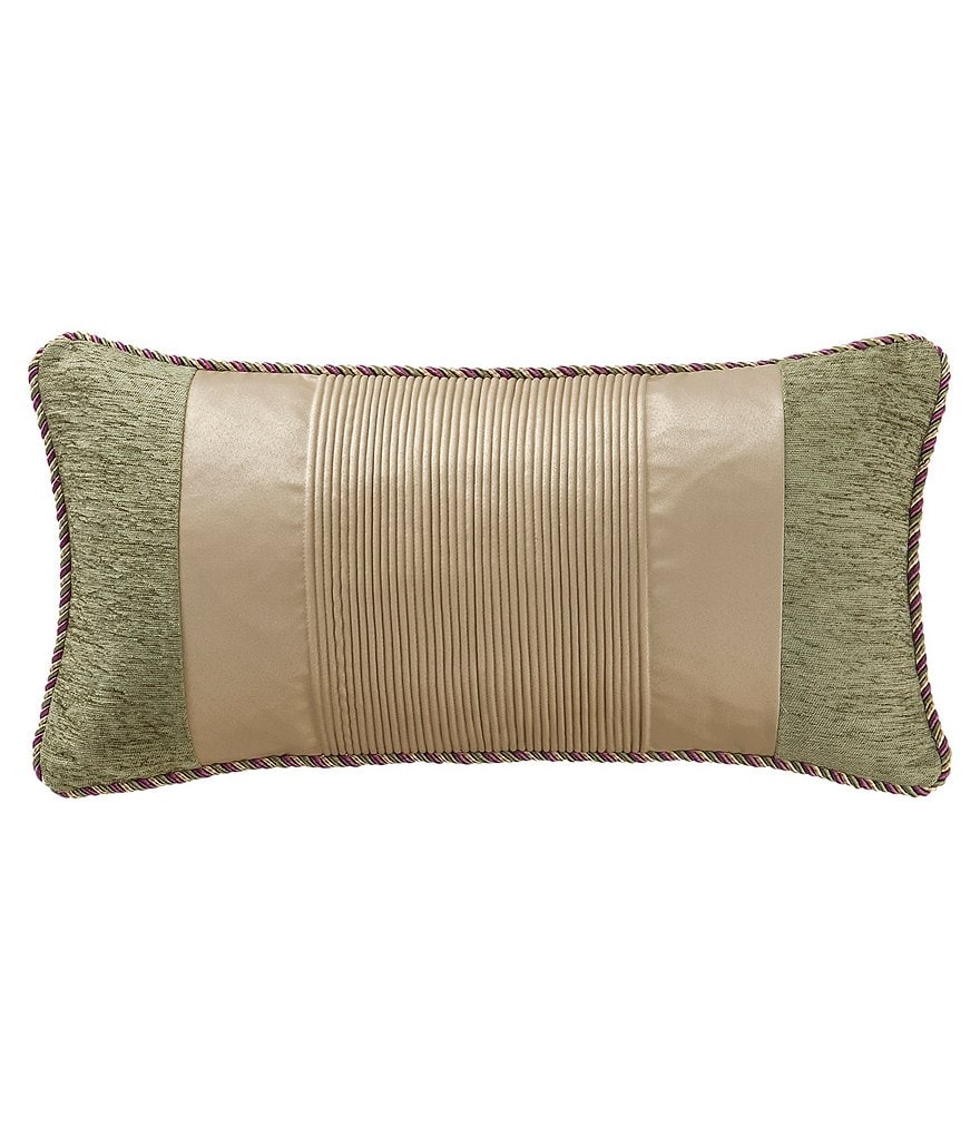 Waterford Carlotta Jacquard & Satin Boudoir Pillow