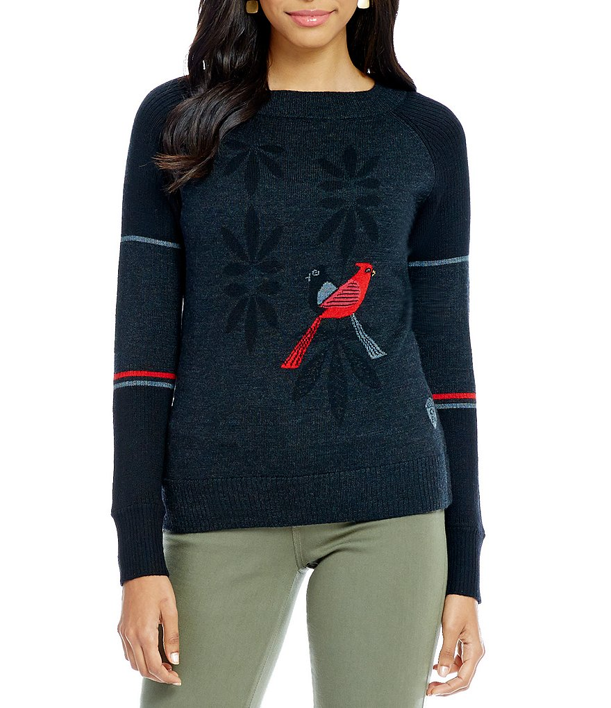 SmartWool Charley Harper Consorting Cardinals Sweater