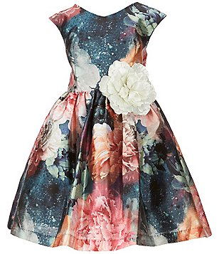 Pippa & Julie Little Girls 2T-6X Floral-Printed Shantung Dress