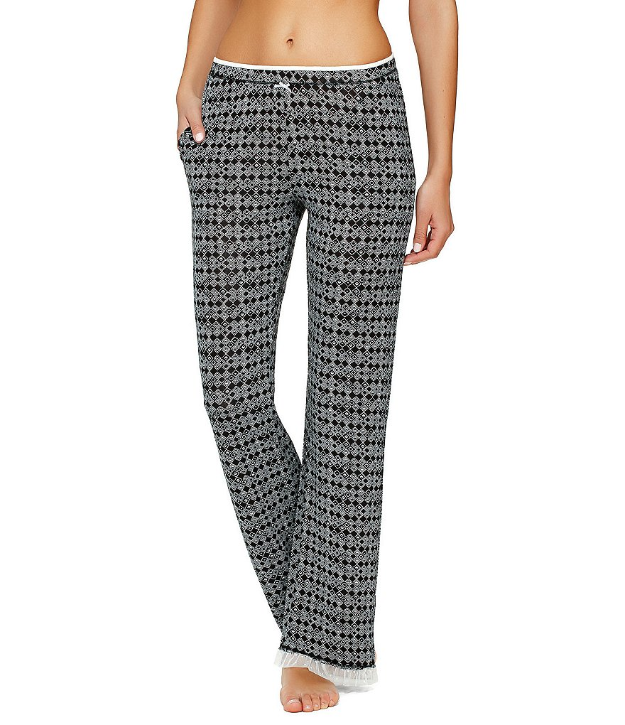 Kensie Geometric Jersey Sleep Pants