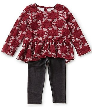 Marmellata Little Girls 2T-6X Jacquard Top and Leggings Set