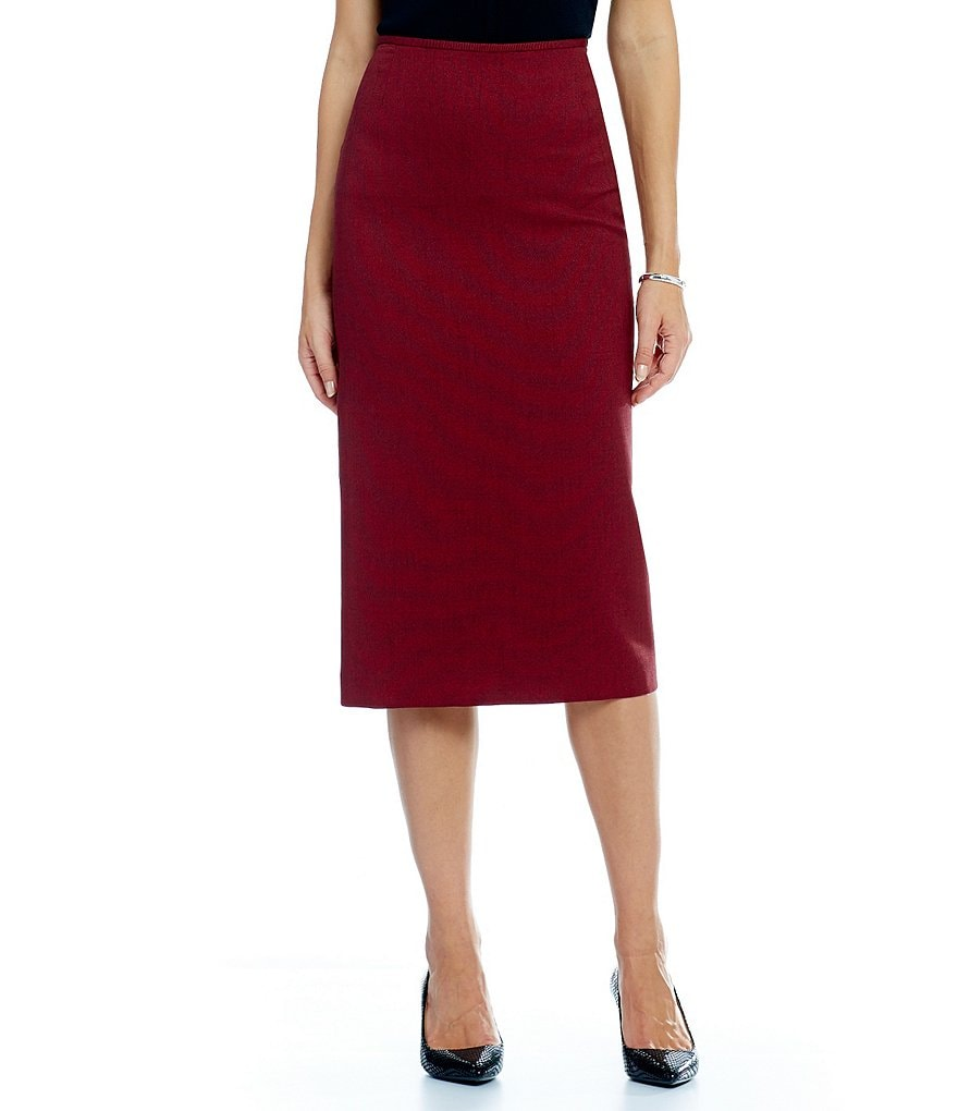 Preston & York Taylor Melange Suiting Pencil Skirt