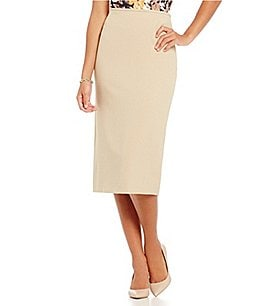 Preston & York Taylor Textured Stretch Crepe Pencil Skirt Image