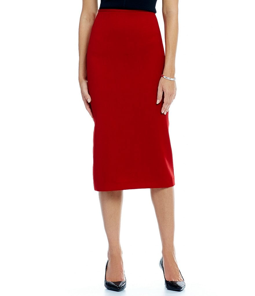 Preston & York Taylor Stretch Pique Pencil Skirt