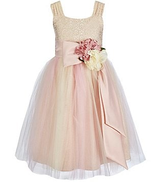 Chantilly Place Big Girls 7-12 Brocade Ballerina Dress