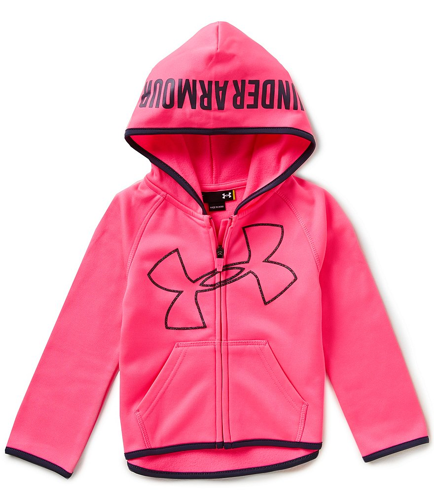 Under Armour Little Girls 2T-6X Jumbo Big Logo Armour® Fleece Hoodie