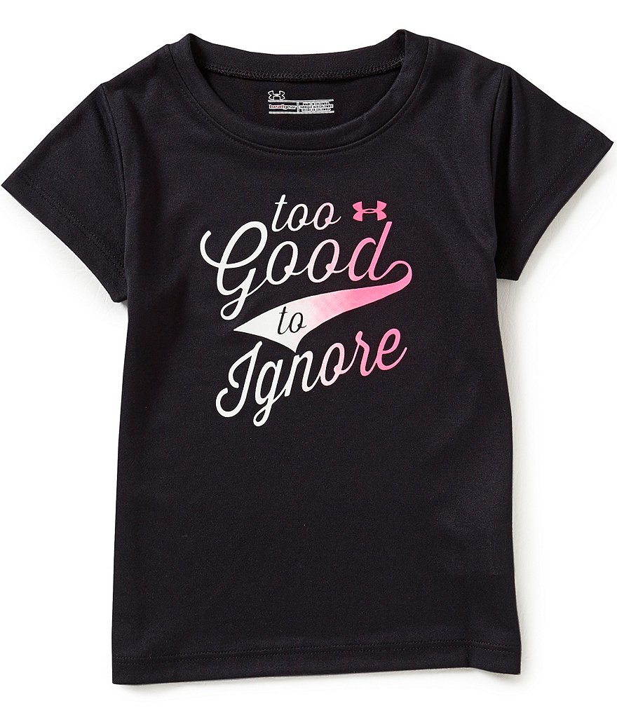 Under Armour Little Girls 2T-6X Too Good to Ignore Tee