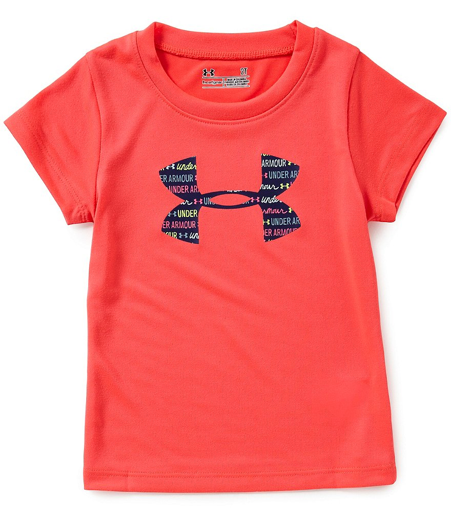 Under Armour Little Girls 2T-6X Big Logo Short-Sleeve Jersey Tee