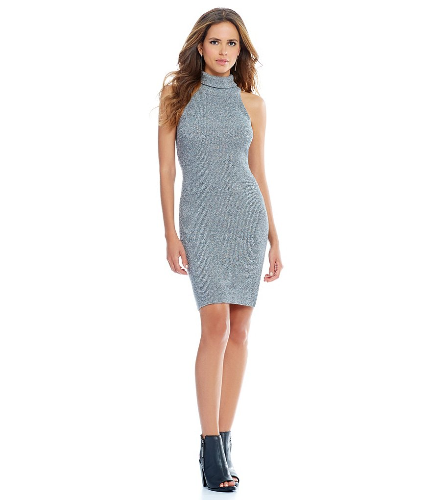 Gianni Bini Rhonda Turtle Neck Sleeveless Dress
