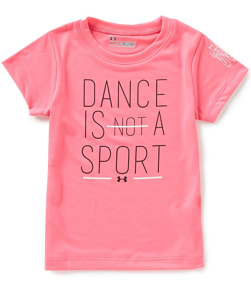 Under Armour Little Girls 2T-6X Dance Is Not A Sport Short-Sleeve Jersey Tee