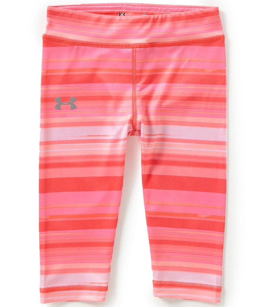 Under Armour Little Girls 2T-6X Blurred-Stripe Capri Pants