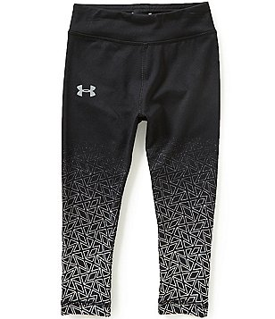 Under Armour Little Girls 2T-6X Chain Grid Shimmer Leggings