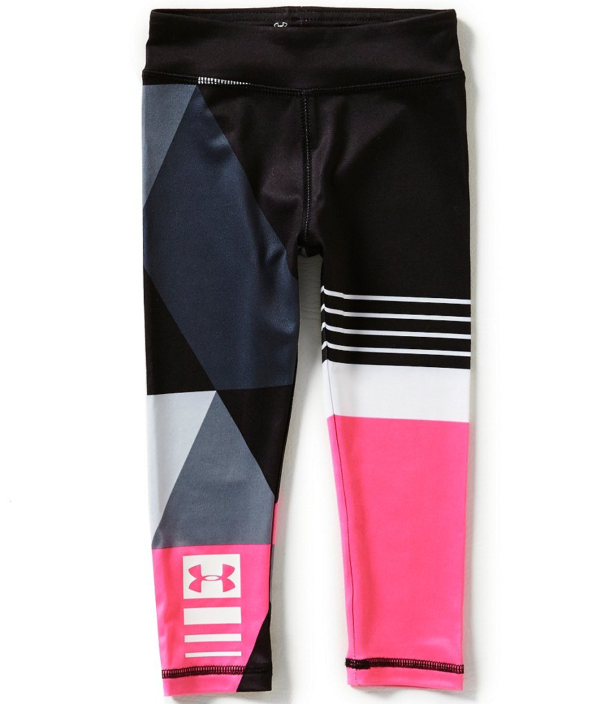 Under Armour Little Girls 2T-6X Mixmaster Color Block/Stripe/Geometric-Printed Leggings