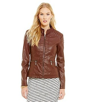 M.S.S.P. Faux Leather Moto Jacket