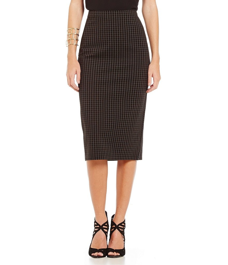 M.S.S.P. Checked Ponte Skirt