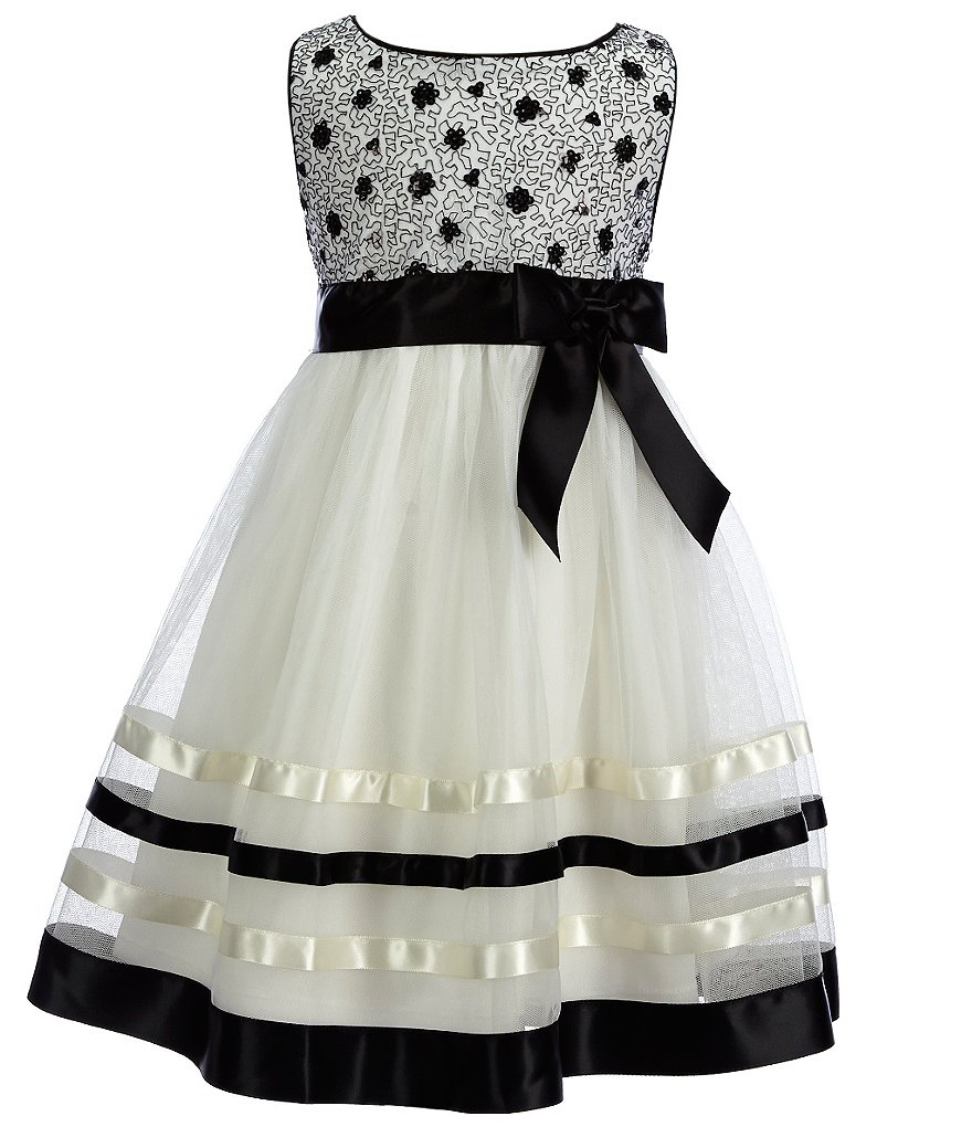 Bonnie Jean Little Girls 2T-6X Sequin-Organza Dress