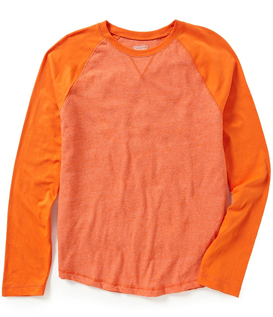 Cremieux Jeans Long-Sleeve Raglan Mock Twist Tee