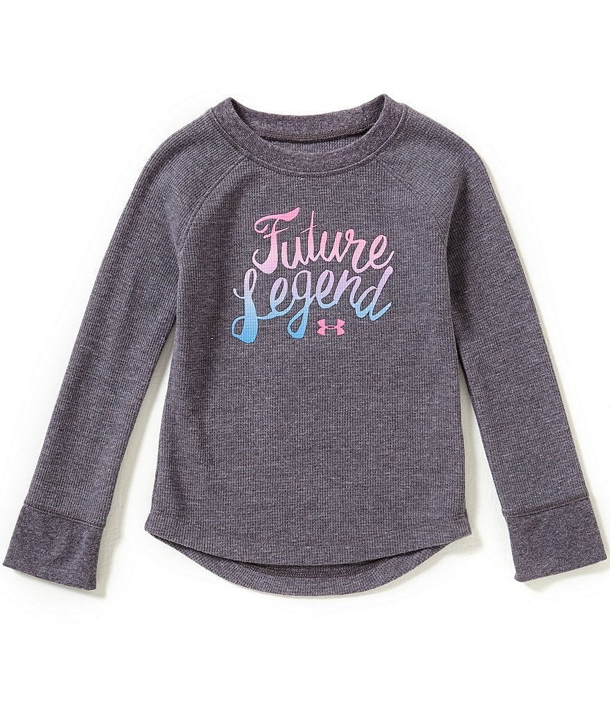 Under Armour Little Girls 2T-6X Future Legend Waffle-Knit Tee