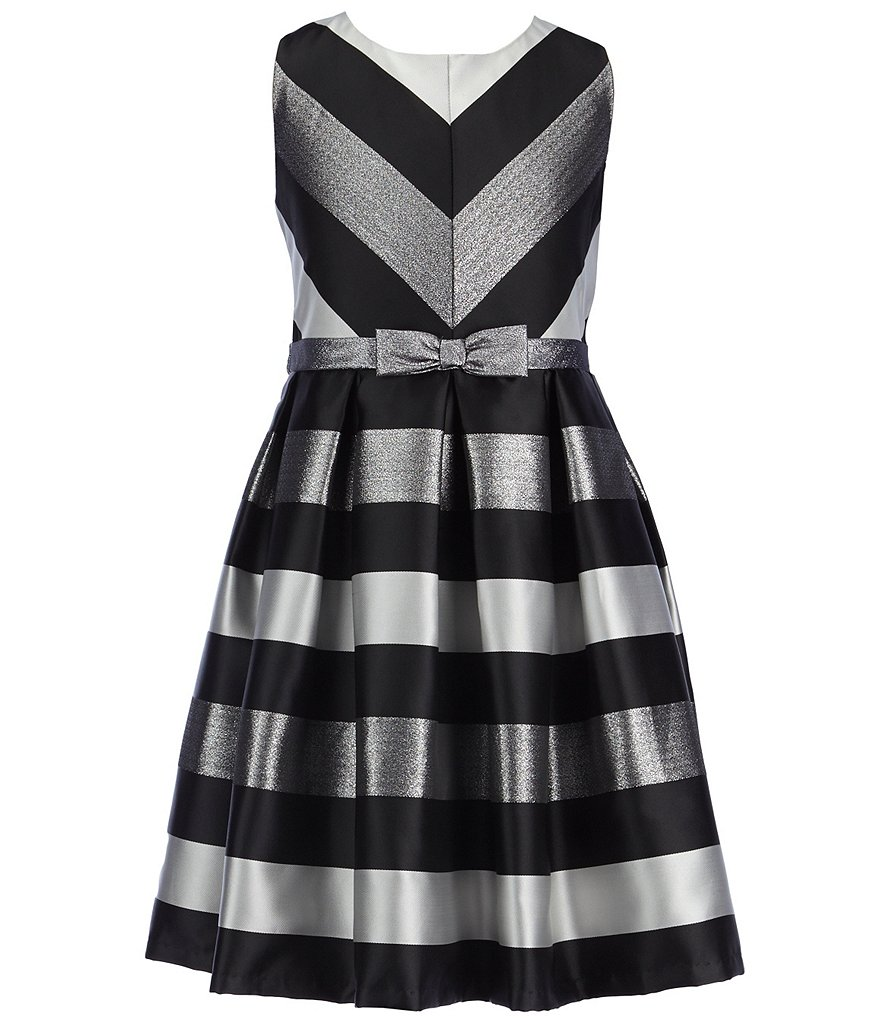 Bonnie Jean Big Girls 7-16 Jacquard Striped Dress