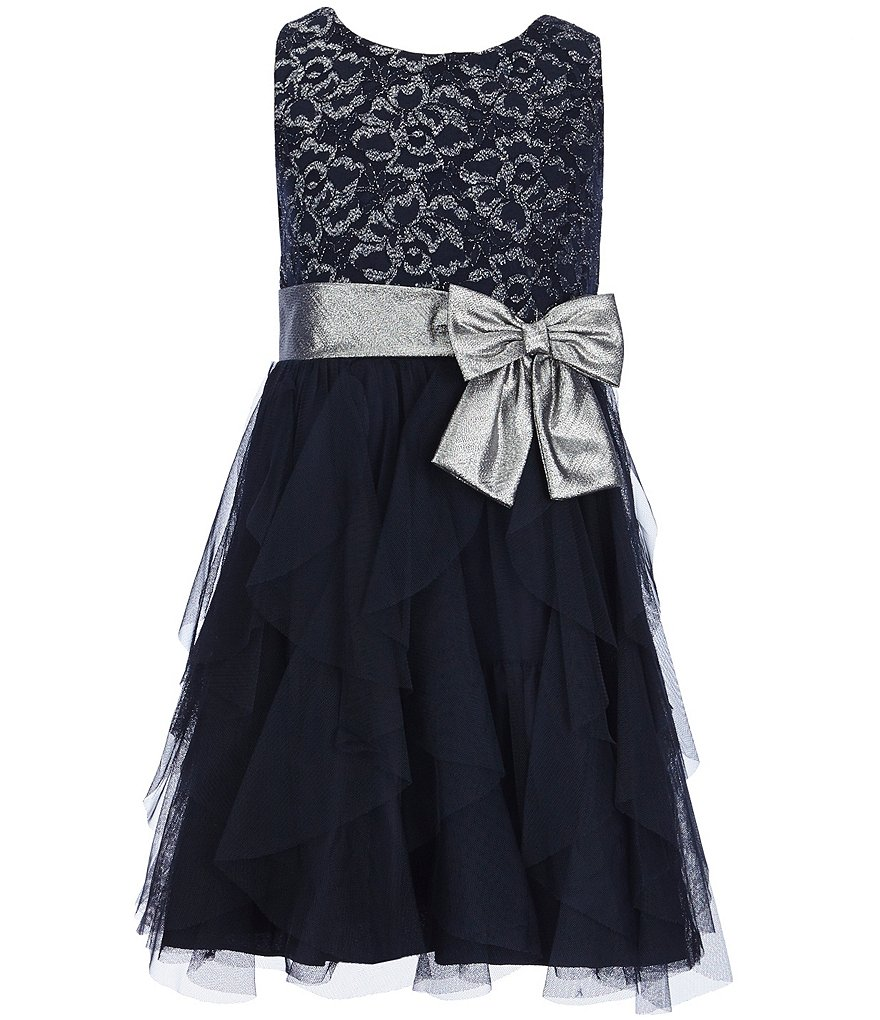 Bonnie Jean Big Girls 7-16 Metallic Lace Dress