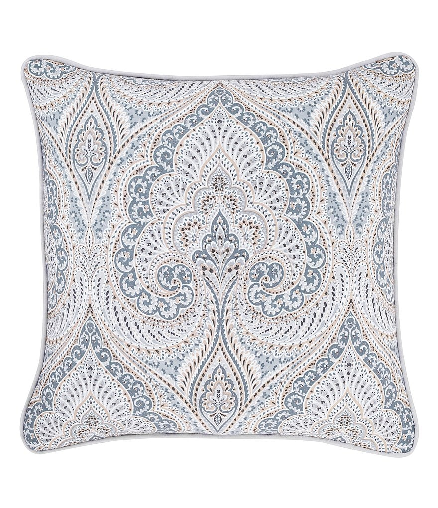 Piper & Wright Mykonos Damask Square Pillow