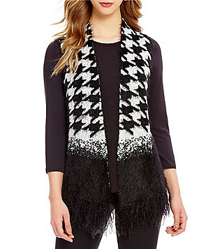 Investments Petites Eyelash Printed Vest