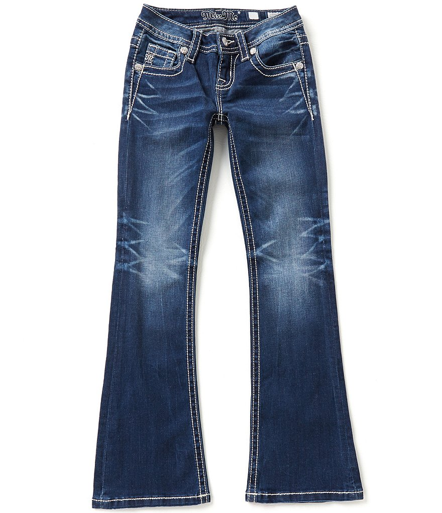 Miss Me Girls Big Girls 7-16 Thick-Stitch Bootcut Jeans